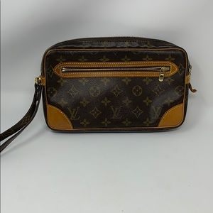 authentic Louis Vuitton Clutch Marly Dragonne gm